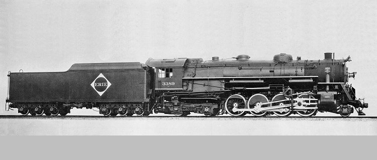 Image result for erie 2-8-4 steam locomotive
